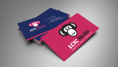 LCIC Media Business Cards by Cude Design