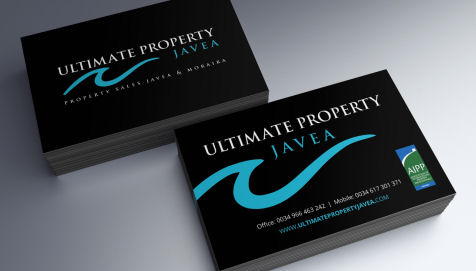 Ultimate Property Javea Business Cards by Cude Design