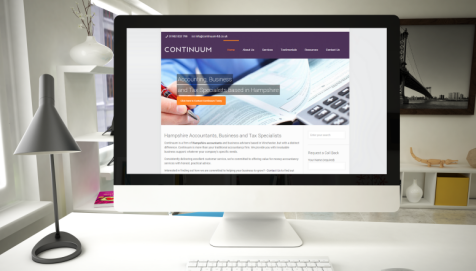 Continuum LTD Website by Cude Design