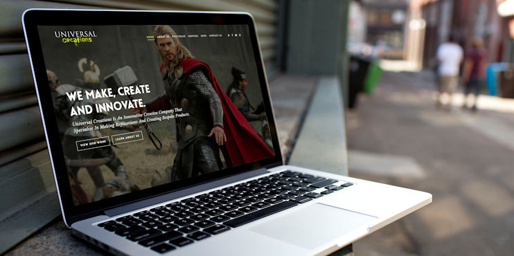 Website for Universal Creations - WordPress Surrey
