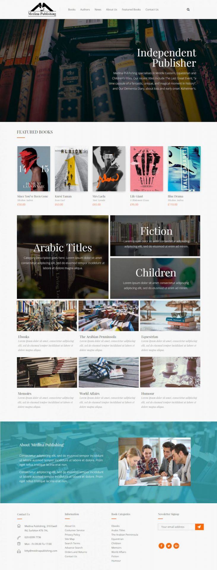 WooCommerce Website Design for Publishing Company