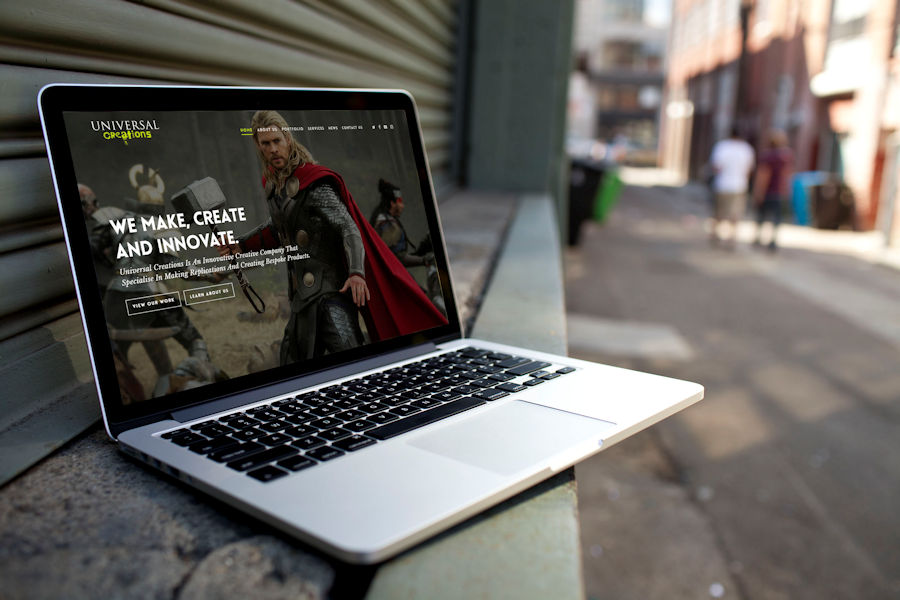 WordPress Website for Universal Creations by Cude Design