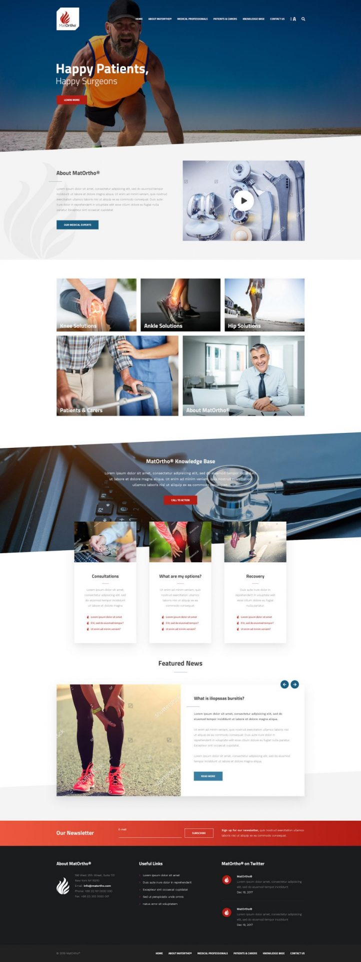 Professional WordPress Website for MatOrtho by Cude Design