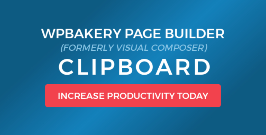WPBakery Page Builder - Visual Composer Clipboard