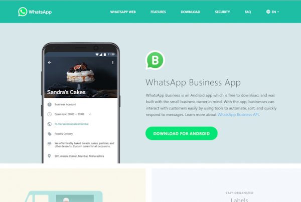 WhatsApp for Businesses and Marketing Small
