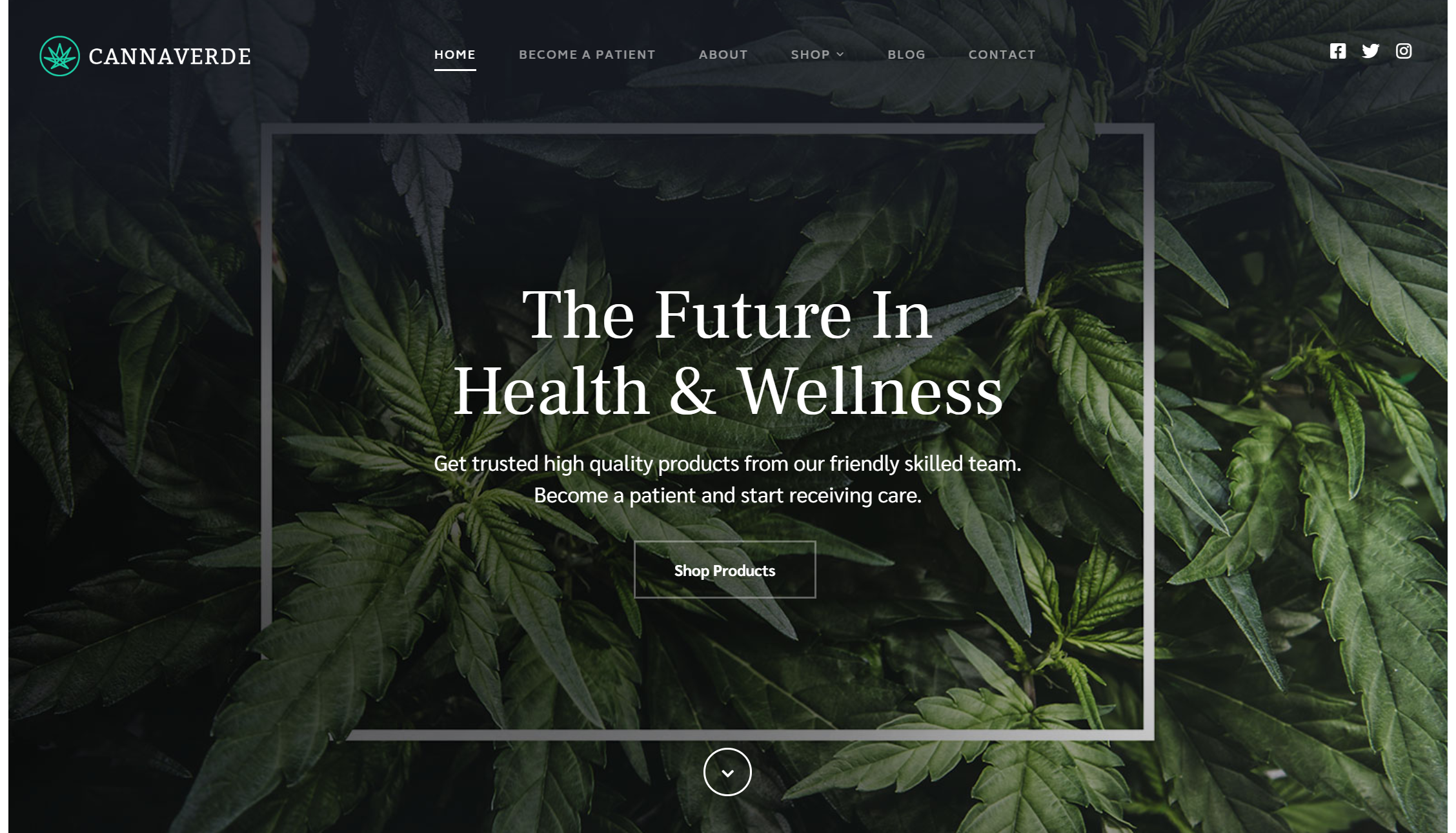 Cannaverde – Medical Marijuana & CBD Oil & Cannabis WordPress Theme
