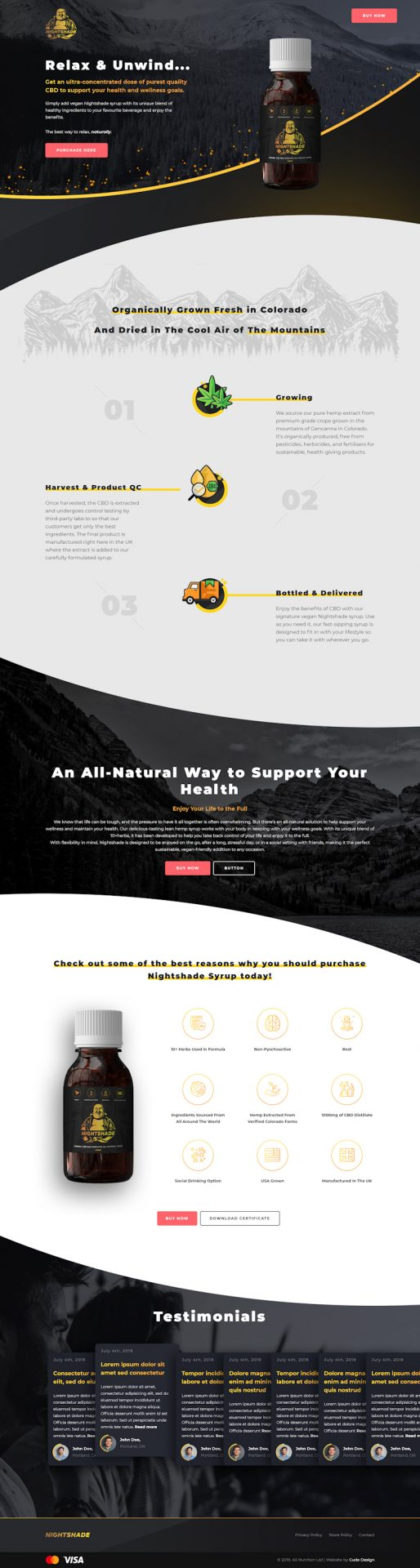 CBD Website Design - Nightshade
