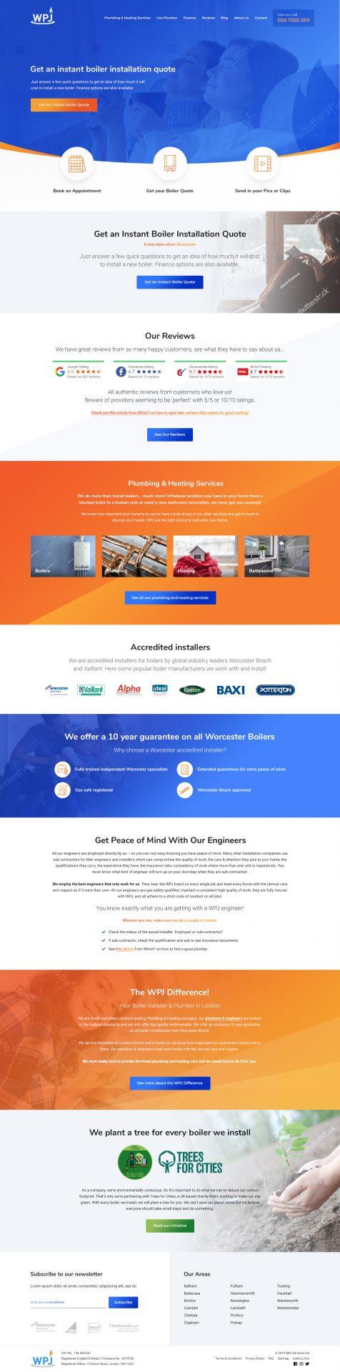 WPJ Heating WordPress Website by Cude Design