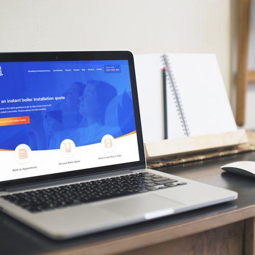 WPJ Heating Website by Cude Design