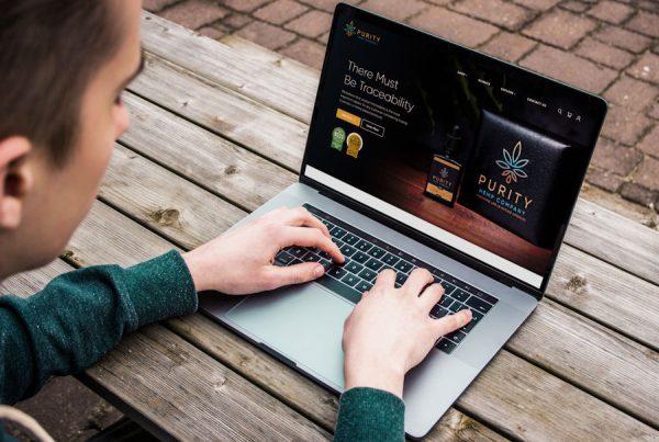 Purity Hemp Co Laptop Mock by Cude Design