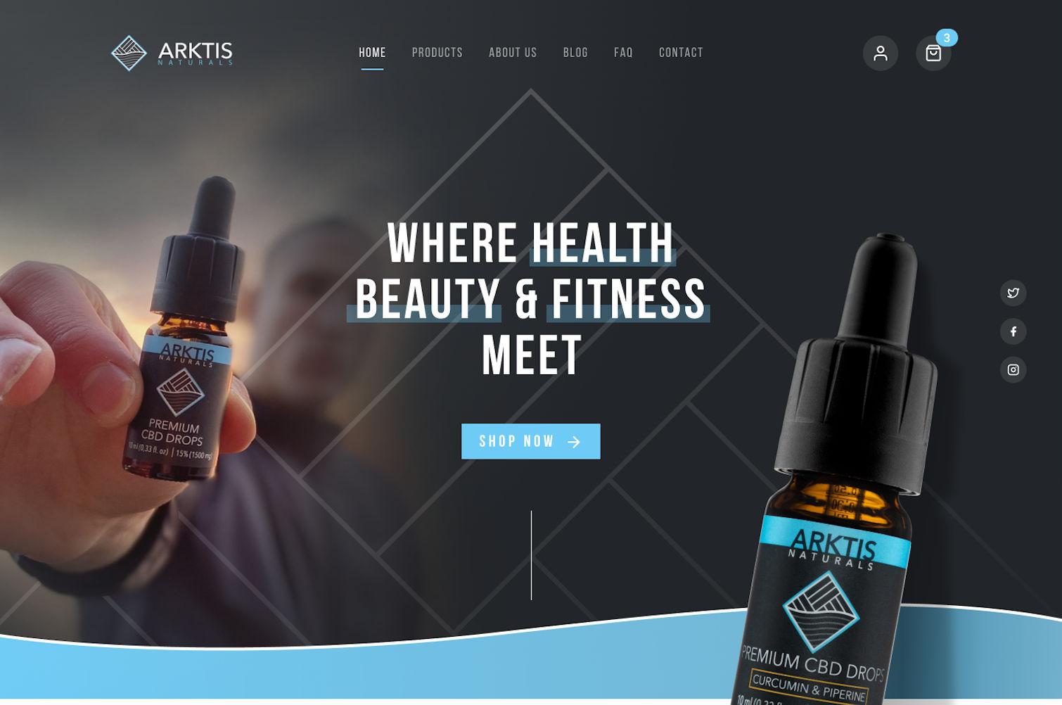 Arktis Natural Website Design by Cude Design