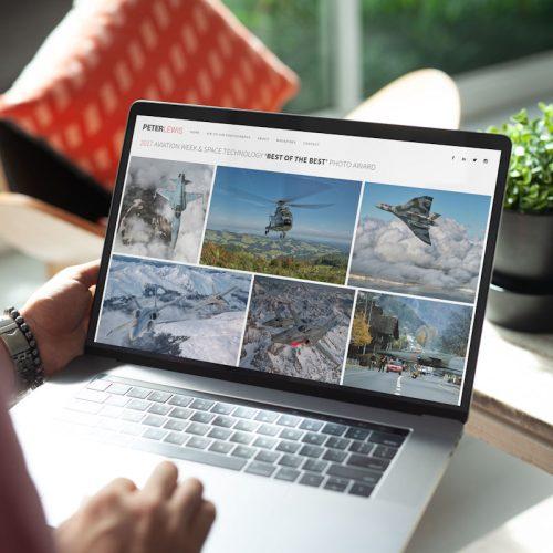 Peter Lewis Website by Cude Design - Mock